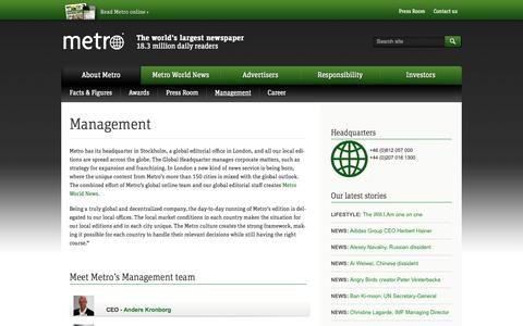Screenshot of Team Page metro.lu - Management – Metro - captured Oct. 27, 2014