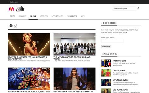 Screenshot of Blog myntra.com - Blog - Myntra LookGood - captured Oct. 28, 2014