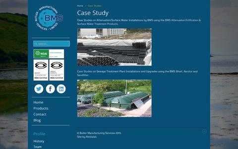 Screenshot of Case Studies Page butlerms.com - Case Studies - captured Oct. 5, 2014