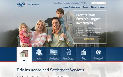 First American - Title Insurance, Specialty Insurance, and Real Estate-Related Services | First American