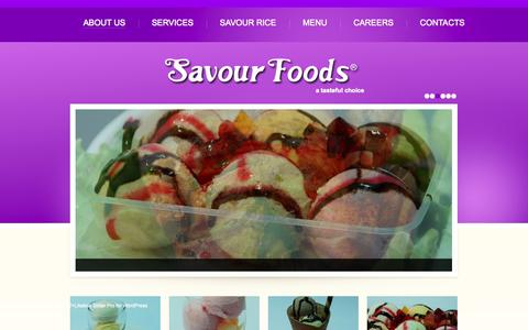 Screenshot of Home Page About Page savourfoods.com.pk - Savour Foods | a TasteFul Choice - captured Sept. 30, 2014