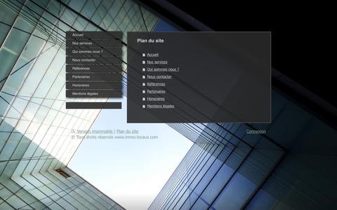 Screenshot of Site Map Page immo-locaux.com - immo-locaux.com - captured Sept. 20, 2018