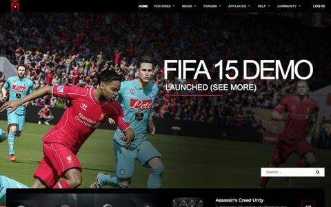 Screenshot of Home Page Login Page trinigamers.com - Home - Trinigamers - Connecting Trinidad and Tobago's Gamers - captured Sept. 19, 2014