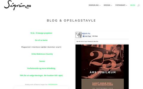 Screenshot of Blog sigrun.nu - BLOG - Sigrun.nu - captured Oct. 2, 2018