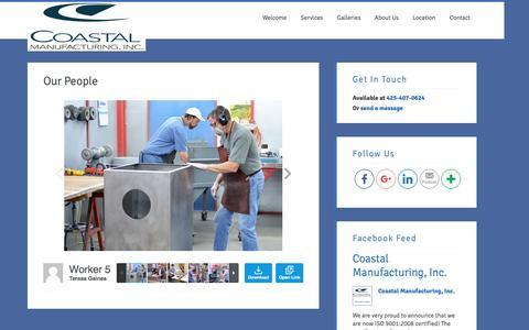 Screenshot of Team Page coastal-mfg.com - Our People - Coastal Manufacturing, Inc. - captured Oct. 8, 2016