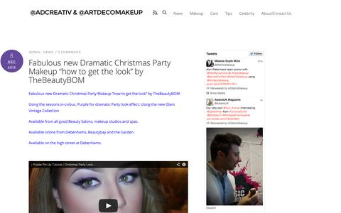 Screenshot of Home Page artdeco.org.uk - @ADCreativ & @ArtdecoMakeup | ARTDECO & ADCreativ film,TV,theatre & editorial makeup - captured Oct. 4, 2014