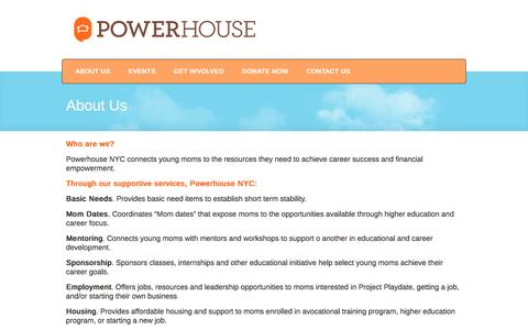 Screenshot of About Page powerhousenyc.org - Powerhouse NYC  Č About Us - captured Dec. 10, 2015