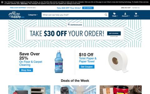 Screenshot of Home Page officesupply.com - OfficeSupply.com - captured Sept. 22, 2018
