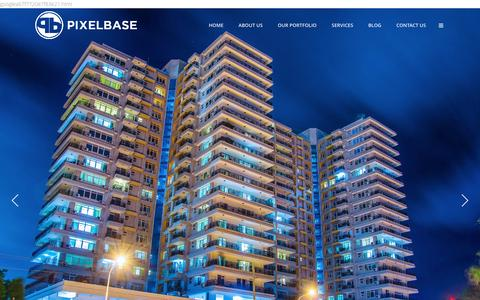 Screenshot of Home Page pixelbase.co.tz - PIXELBASE | Creative Humans - captured Dec. 6, 2015