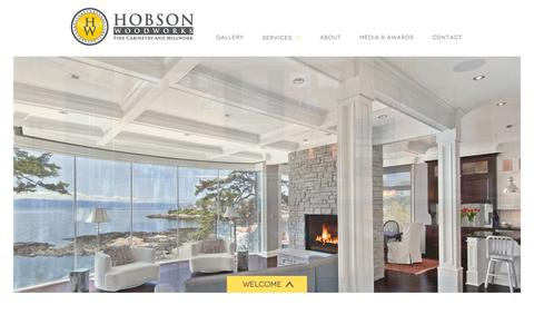 Screenshot of Home Page hobsonwoodworks.com - Hobson Woodworks - Finish Carpentry & Cabinetry Victoria BC - captured Sept. 30, 2014