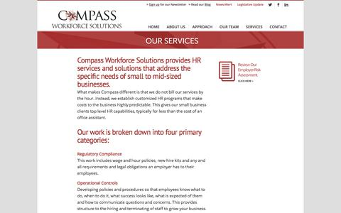 Screenshot of Services Page compasswfs.com - Services - Compass Workforce Solutions - captured Aug. 18, 2017