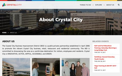 Screenshot of About Page crystalcity.org - About Us - captured Sept. 16, 2017