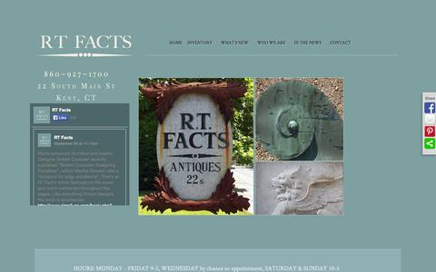 Screenshot of Home Page Login Page rtfacts.com - R.T. Facts  Frontpage - R.T. Facts - 860~927~1700 - captured Oct. 7, 2014