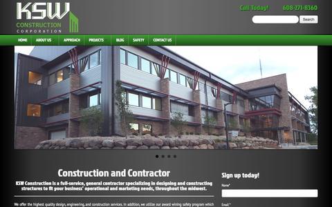 Screenshot of Testimonials Page kswconstruction.com - KSW Construction Corporation | Construction Contractor - captured Oct. 6, 2014