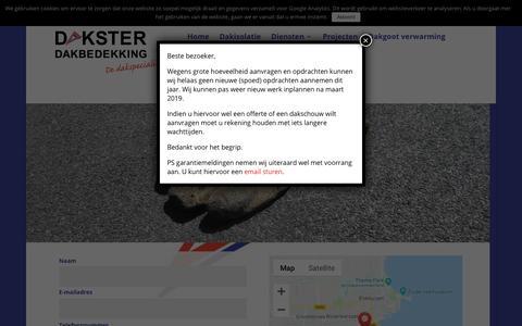 Screenshot of Contact Page dakster.nl - Contact - Dakster Dakbedekking - captured Nov. 22, 2018