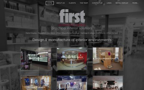 Screenshot of Home Page firstman.co.uk - First Manufacturing Ltd - First Manufacturing Ltd - captured Feb. 10, 2016