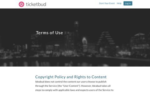 Ticketbud · Terms of Use