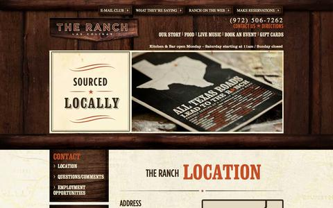 Screenshot of Contact Page theranchlc.com - Contact Us - The Ranch - captured Oct. 23, 2017