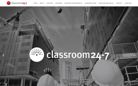 Screenshot of Home Page classroom24-7.com - Classroom24-7 - captured July 21, 2015