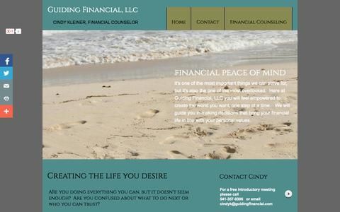 Screenshot of Home Page guidingfinancial.com - Financial Counseling Eugene OR - captured Oct. 3, 2014