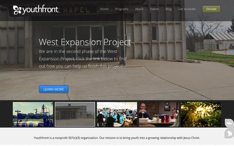 Screenshot of Home Page youthfront.com - Youthfront > Youthfront Home - captured Sept. 30, 2014