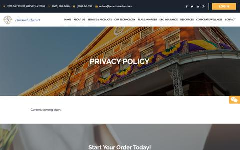 Screenshot of Privacy Page punctualabstract.com - Privacy Policy   Punctual Abstract - captured Sept. 29, 2018