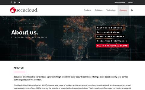 Screenshot of About Page secucloud.com - About Secucloud - Secucloud - captured Oct. 11, 2019