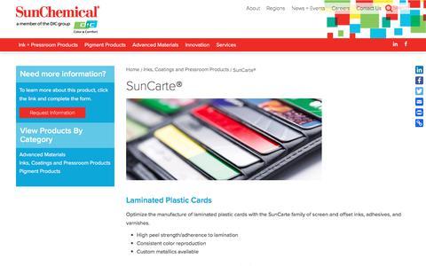 SunCarte® | Sun Chemical