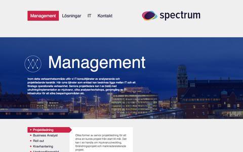 Screenshot of Team Page spctrm.se - Management - captured Nov. 4, 2014