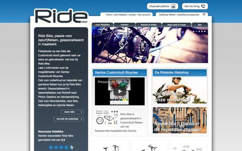 Screenshot of Home Page ridebike.nl - Santos Custombuilt vakantie fietsen Specialist voor Limburg regio Peel en Maas - captured Nov. 2, 2017