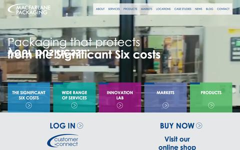 Screenshot of Home Page macfarlanepackaging.com - Packaging products and services from the experts- Macfarlane Packaging - captured May 26, 2017