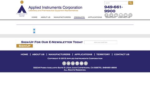 Screenshot of Products Page appliedinst.com - Applied Instruments Corporation | | - captured Nov. 21, 2016