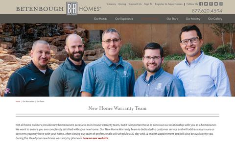Screenshot of Team Page betenbough.com - New Home Warranty Team | New Construction Home Warranty - captured Oct. 5, 2018