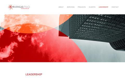 Screenshot of Team Page imageteq.com - Leadership — IMAGETEQ TECHNOLOGIES, INC. - captured Jan. 13, 2018