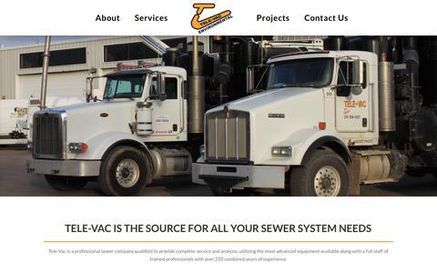 Screenshot of Services Page tele-vac.com - Services | Tele-Vac Environmental - captured Nov. 6, 2017