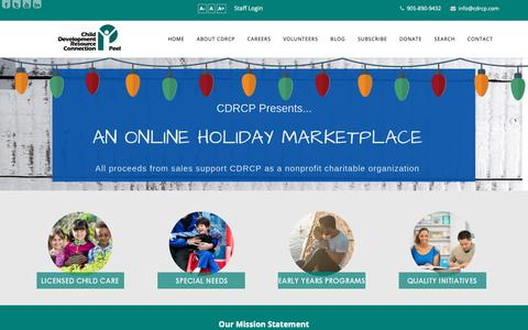 Screenshot of Home Page cdrcp.com - Call us at (905) 890-9432 - Child Development Resource Connection Peel - CDRCP - captured Dec. 13, 2018
