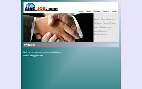 Screenshot of Jobs Page atozjob.com - A to Z Job - captured Sept. 30, 2014
