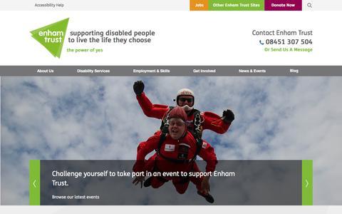 Screenshot of Press Page enhamtrust.org.uk - Latest disability news and charity events | Enham Trust - captured Jan. 1, 2017