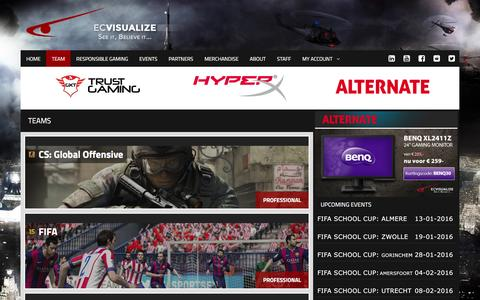 Screenshot of Team Page ecvisualize.nl - teams | ECVisualize - captured Dec. 5, 2015