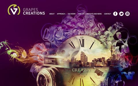 Screenshot of Home Page grapescreations.com - Creative agency Grapes Creations - captured May 22, 2017