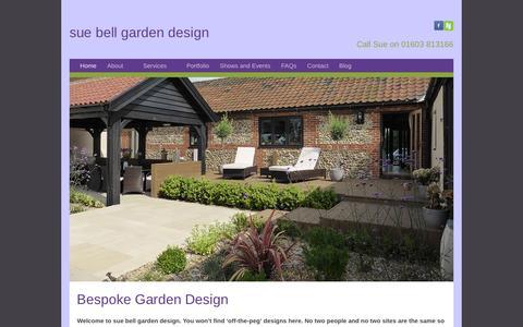 Screenshot of Home Page sbgardendesign.co.uk - Norfolk Garden Design & Planting Plans | Sue Bell - captured Feb. 17, 2016