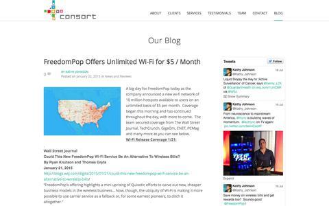 Screenshot of Blog consortpartners.com - BLOG | Consort Partners - captured July 24, 2015