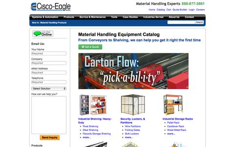 Screenshot of Products Page cisco-eagle.com - Cisco-Eagle Catalog - captured July 13, 2016