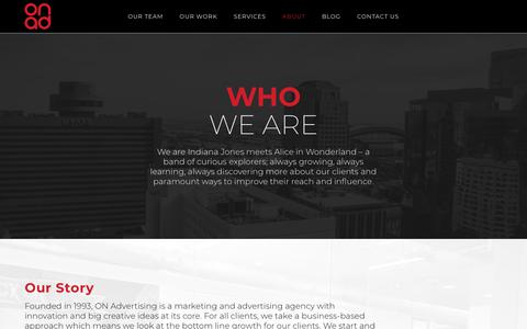 Screenshot of About Page on-advertising.com - Phoenix Advertising Agency - On Advertising - Check Us Out! - captured Oct. 20, 2018