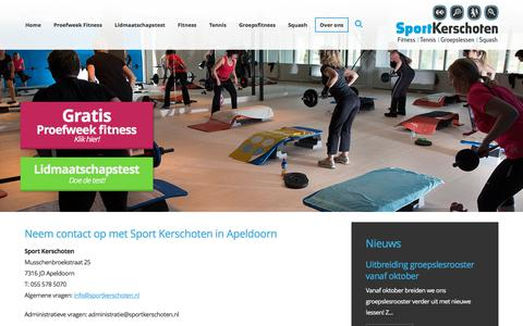 Screenshot of Contact Page sportkerschoten.nl - Contactgegevens van Sport Kerschoten - captured Sept. 21, 2018