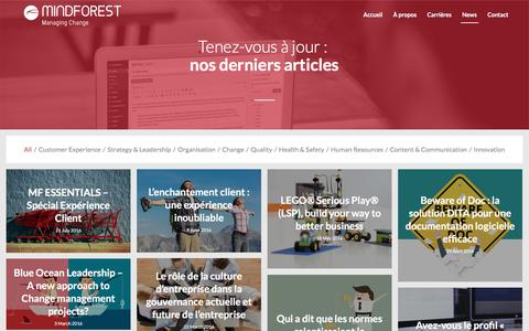 Screenshot of Press Page mindforest.com - MindForest - Managing Change |   News - captured Aug. 12, 2016