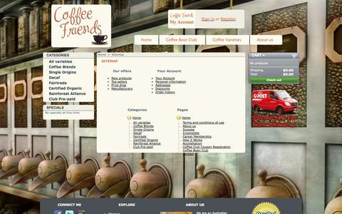 Screenshot of Site Map Page coffeefriends.com.au - Sitemap - Coffee Friends - captured Sept. 30, 2014