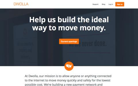 Screenshot of Jobs Page dwolla.com - Dwolla | Jobs - captured Oct. 26, 2015