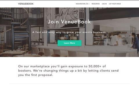 VenueBook | List Your Venue