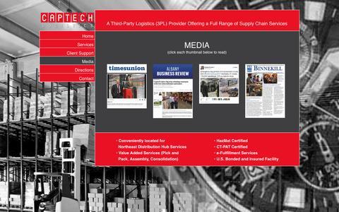 Screenshot of Press Page captechlogistics.com - Media | Captech Logistics - captured Jan. 25, 2016